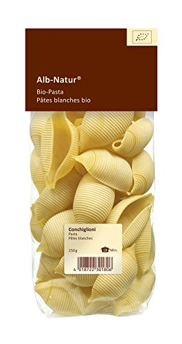 Organic stuffing pasta conchiglioni size XXL ALB NATUR | Organic pasta XXL for whimsical recipes - Extra wide organic pasta for stuffing - 250g