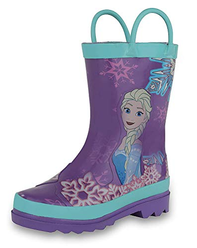 Disney Frozen Girls Anna and Elsa Pink Rain Boots (Toddler/Little Kids)