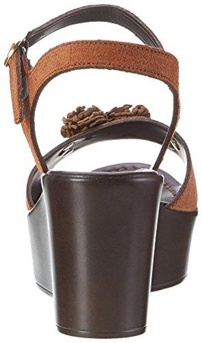 Cafènoir Ladies Mxv610 Sandalo Con Zeppa In Pelle