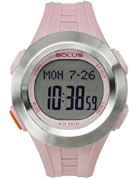 Solus Unisex Digital Watch with LCD Dial Digital Display and Pink Plastic or PU Strap SL-101-004