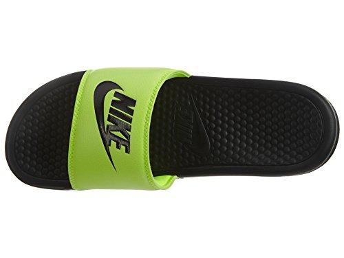 Nike Benassi Jdi, Ciabatte Uomo Black/Black-VOLT