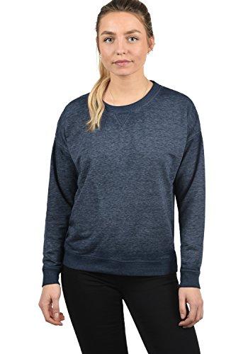 DESIRES Bianca Damen Sweatshirt Pullover Sweater Mit Rundhalsausschnitt, Größe:M, Farbe:Insignia Blue Melange (8991) Burnout Zip Hoodie