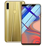 Entsperrtes Telefon, Acht Kerne 6,1 Zoll Doppel-HDCamera Smartphone Android 8.1 LCD 16GB Touchscreen WiFi Bluetooth GPS 3G Anruf-Handy (Gold)