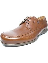 Zapato casual hombre FLUCHOS con cordones en piel color Camel - 9378 - 80N1
