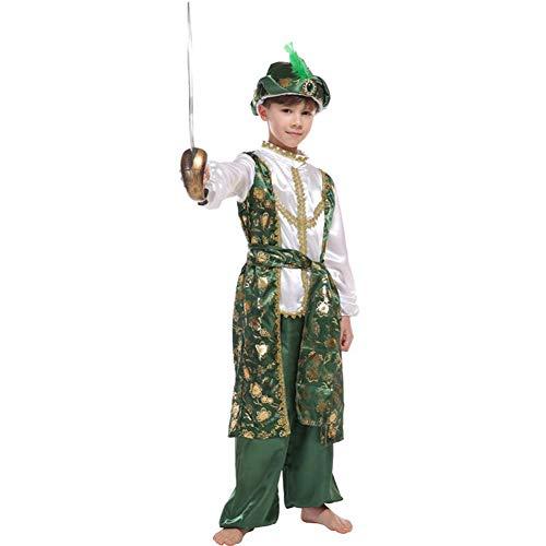 LOLANTA Kinder Halloween Araber Prinz Kostüm Jungen Aladdin Märchen Kostüm (134/140)