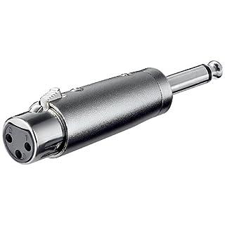 XLR Adapter 3-polig XLR Kupplung auf 6.35mm mono Steck.