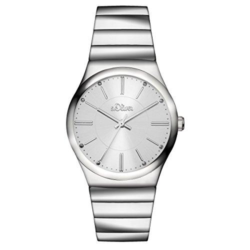 s. Oliver Women's Quartz Watch with Black Dial Analogue Display Quartz 15129/MQR