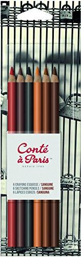 Conté à Paris - Lápices de colores (6 unidades), multicolor