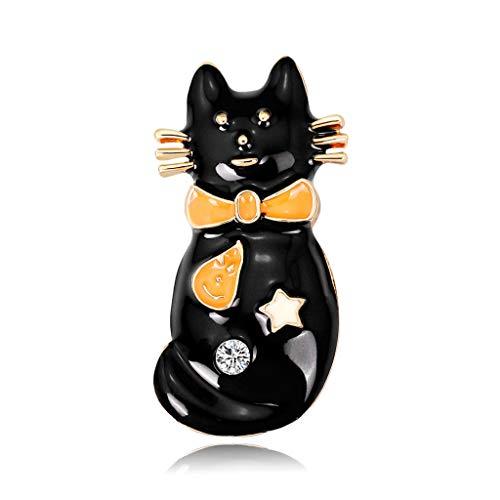 Kofun Brosche, Katze Brosche Tier Emaille Maskottchen Niedlichen Kätzchen Schmuck Abzeichen Bankett Schal Pin Geschenk Katzenbrosche