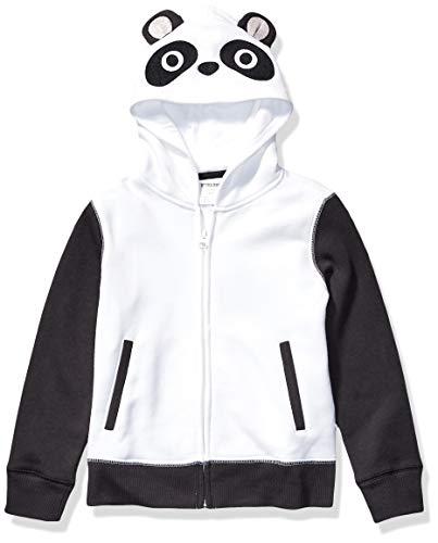 Spotted Zebra Fleece Zip-Up Sweatshirt/Hoodie, Panda, X-Large (12) -