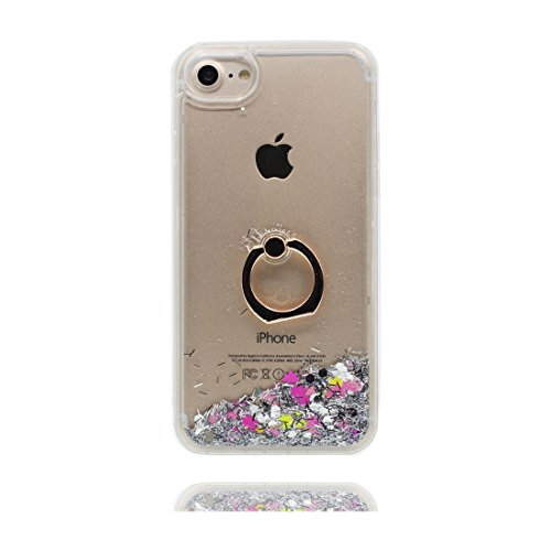 "iPhone 6 Coque, Étui Cover pour iPhone 6S 4.7"", Bling Glitter Fluide Liquide Sparkles Hard Shell ring Support iPhone 6 Case 4.7"", Résistant à la poussière Scratch et Bouchon anti-poussière Original # 8"