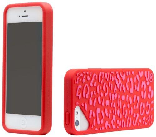 Cloud Olo-Cover per Apple iPhone 5, motivo P Fashion- Leopard Red