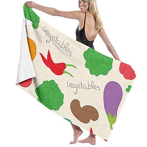 xcvgcxcvasda Serviette de bain, Beach Towels Oversized Colored Vegetables Beach Towel Large Pool Towel for Adults Kids Girls Beach Towel