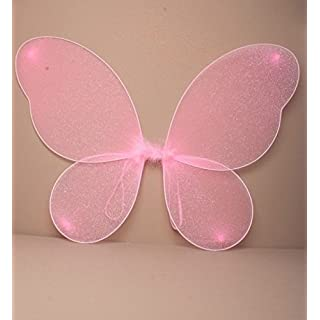ALANNAHS ACCESSORIES Large Adult Net Fairy Wings With Silver Glitter Fancy Dress Up
