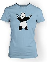 Panda mit Gewehren Männer Banksy T-Shirt Damen T-Shirt