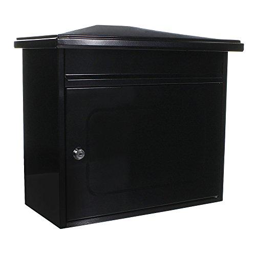 Briefkasten HomeDesign Briefkasten HDM-2300-Anthrazit, Postkasten zur Wandmontage, Stahlblech, Zylinderschloss