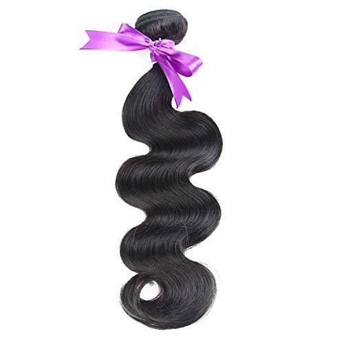 Natürliche Haarteile Peruanisches Haar spinnt Körperwelle-Haar-Bündel 100% Menschenhaar-Webart-natürliche Farbe Nicht Remy Haar 8-30 Zoll 1pcs Perücken (Stretched Length : 26inches) (30-menschenhaar-erweiterungen)