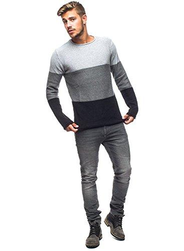 Solid - Jarah rayure Knit - Homme Noir