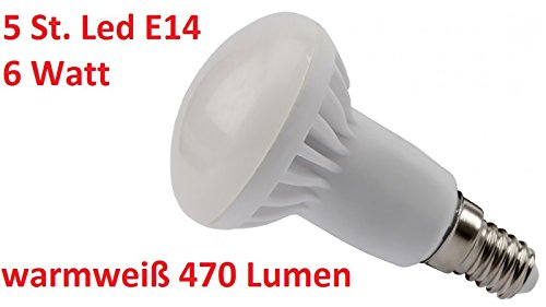 5x-olympia-high-power-led-e14-r50-6w-warmwei-470-lumen