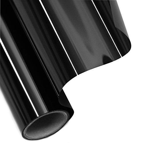 Tönungsfolie Sonnenschutzfolie Fensterfolie 95% SCHWARZ 300x75cm