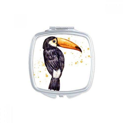 DIYthinker Ramphastos Toco-Vogel-tropischer Platz Compact Make-up Spiegel Beweglicher Nette Handtaschenspiegel Geschenk -
