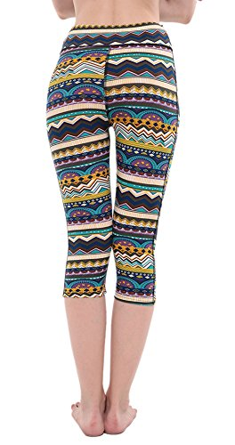 EOZY Leggings Slim De Sport Imprimé Femme Collant Pour Running Yoga Fitness D