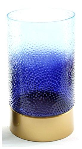 1x Offizielles Yankee Candle Blue Twilight Dusk groß Jar Sleeve Kerzenhalter Dekoration Ornament Strukturiertem Glas Zubehör