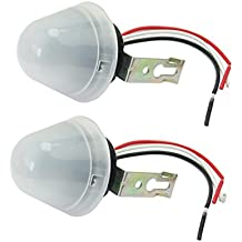 2X Auto Sensor Interruptor Crepuscular Luz Control 220V 10A para Farolas Calle