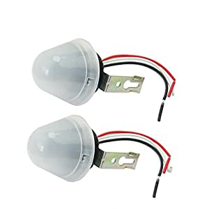 2 x interrupteur cr pusculaire variateur de lumi re variateur automatique capteur cr pusculaire. Black Bedroom Furniture Sets. Home Design Ideas