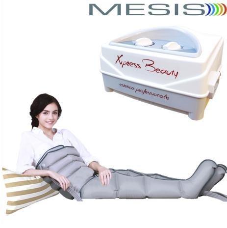 Apparecchio pressoterapia xpress beauty mesis - per estetica professionale (1 programma - 4 camere d\'aria + 2 gambali + kit slim body)