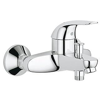 Grohe Start – Grifo para baño y ducha visto (1/2″), Eco/Swift, color plata, Ref. 23270000