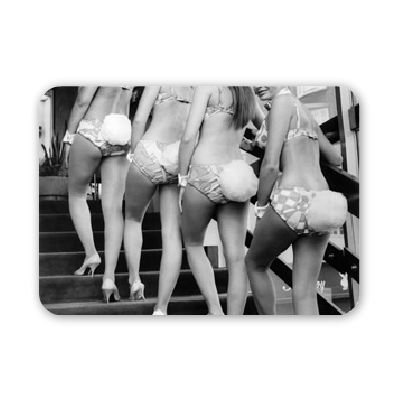 bunny-girls-at-londons-playboy-club-july-mouse-mat-art247-highest-quality-natural-rubber-mouse-mats-