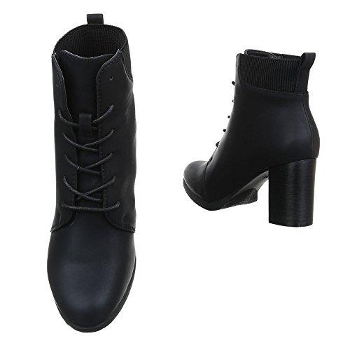 Ital-Design , Bottes Rangers femme Noir