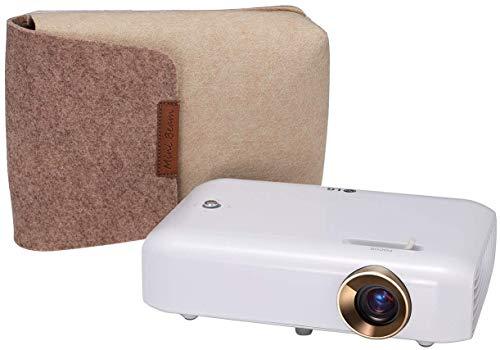 LG Beamer PH550G bis 254 cm (100 Zoll) CineBeam HD LED Projektor (550 Lumen, Drahtlose Screen-Share-Funktion, integrierter Akku), weiß (Fernbedienung Star Light)
