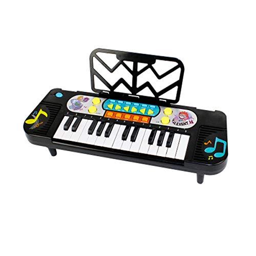 XIONGHAIZI Tastiera elettronica, Tastiera per bambini, Adatto per bambini di età compresa tra 3 e 10 anni, 41 * 13,5 * 17 cm, nero (Color : Black-42 * 15 * 17cm)