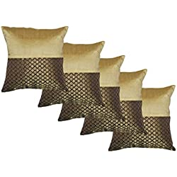 Durable Dupian Silk Jacquard Decorative Square Throw Pillow Cover Cushion Case Sofa Chair car Seat Pillowcase 12 X 12 Inches 30cm x 30cm set of 5