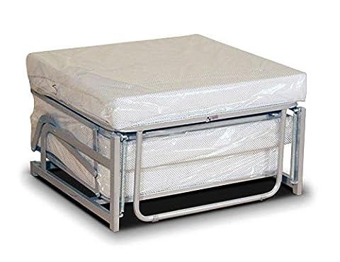 Pouf-lit pliant, lit d'appoint avec matelas en mousse polyuréthane -