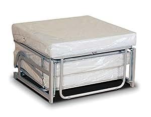 pouf lit pliant lit d 39 appoint avec matelas en mousse polyur thane couchage 70x200 cm amazon. Black Bedroom Furniture Sets. Home Design Ideas