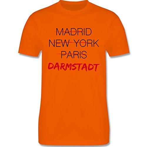 Städte - Weltstadt-Darmstadt - Herren Premium T-Shirt Orange