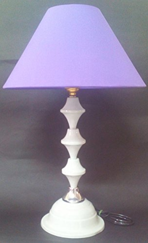 RDC White with Silver Base Table Lamp with 10