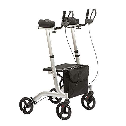CARELINE Leichtgewichtrollator mit Arthritisauflagen, faltbar, höhenverstellbar, maximale Belastbarkeit 136 kg