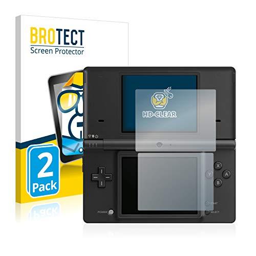 BROTECT Schutzfolie kompatibel mit Nintendo DSi (2 Stück) klare Displayschutz-Folie