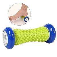 ROSENICE Massage des pieds Rouleau Augmentation de la fasciite plantaire Yoga Fitness Roller Acupressure Massager Stick(Bleu foncé)