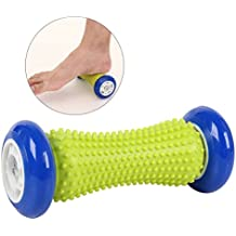 ULTNICE Pie rodillo masajeador yoga rodillo de fitness masaje de reflexología masaje stick (azul oscuro)