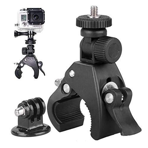 Thisiscry Kamerahalterung,Fahrradhalter mit großem Durchmesser, Fahrradkamera-Clip, Motorradkamerahalterung,für GoPro Hero 5,4,3 +, 3,2,1, Canon, Nikon, Sony und andere Kameras