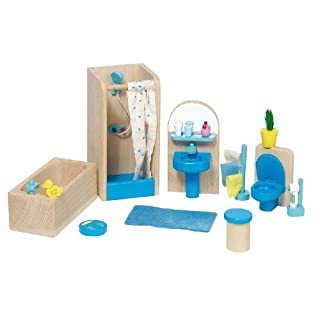 Goki 51903 - Badezimmer Puppenhausmöbel , 17-teilig