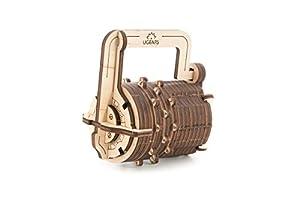 UGEARS UGE 412029 puzle 3D - Puzles 3D (34 Pieza(s), Combination Lock, 14 año(s), 60 - 180 min, Madera contrachapada, 97 mm)