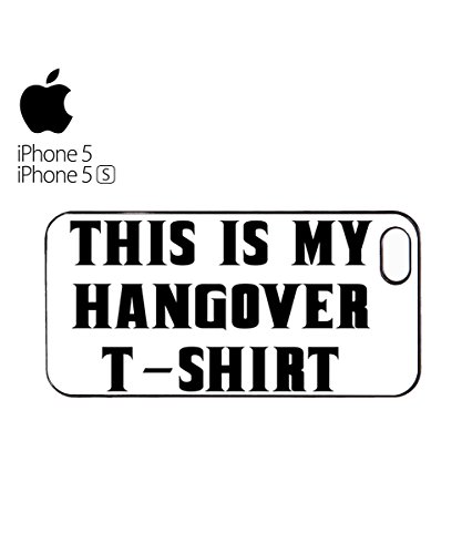 This is My Hangover T Shirt Funny Mobile Phone Case Back Cover Coque Housse Etui Noir Blanc pour for iPhone 6 White Blanc