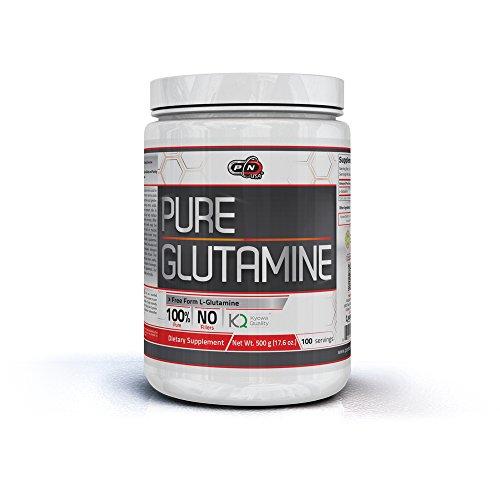 Pure Nutrition L GLUTAMIN Pulver Bio Vegan|1kg 500g 250g|5000mg Hochdosiert Höchste Qualität|100% Rein Neutral Unflavored|Muskelaufbau Aminosäure|Muskelerhalt Regeneration Kraftsport Bodybuilding - Reines Glutamin Pulver
