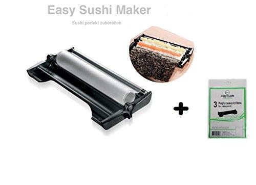 Easy Sushi Maker Sushi Roller Ø 4,5 + Lot de 3 Films de Rechange Gratuite